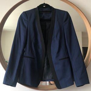 Zara Navy Blue Tuxedo Jacket